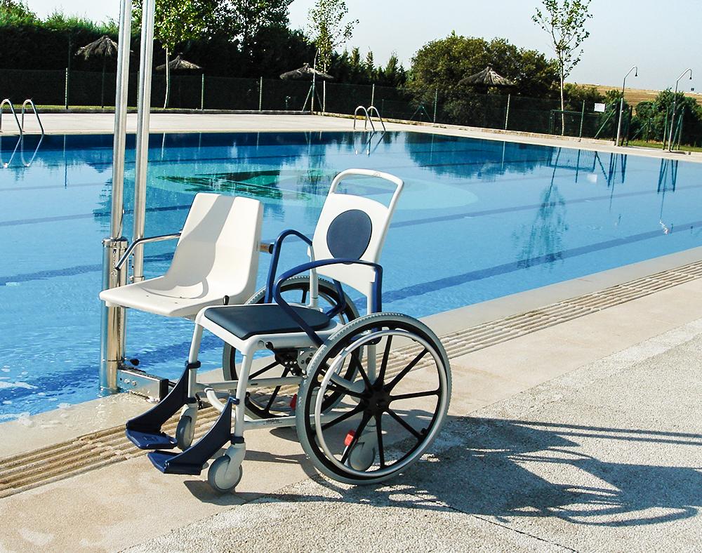 Elevadores hidráulicos de piscinas para personas discapacitadas