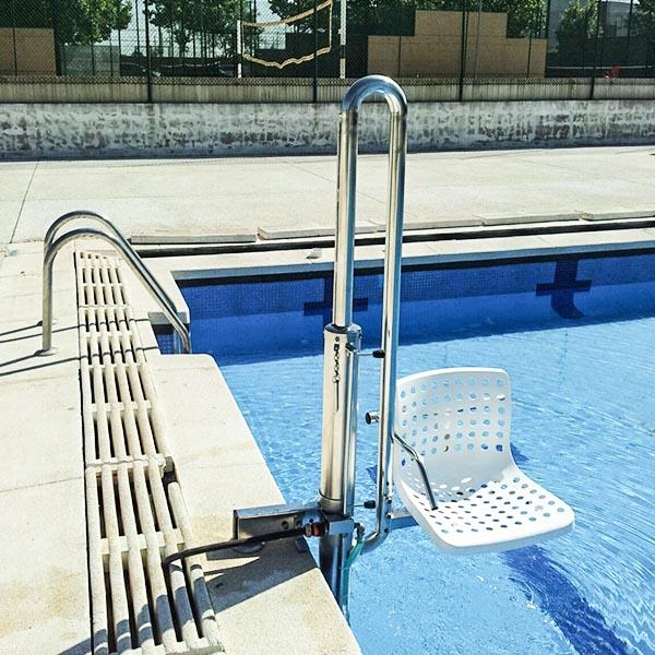 imagenes productos accesos elevador piscina hidraulico minusvalido