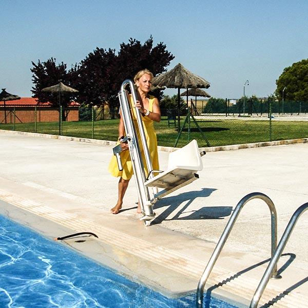 imagenes productos accesos instalacion elevador piscina hidraulico minusvalido